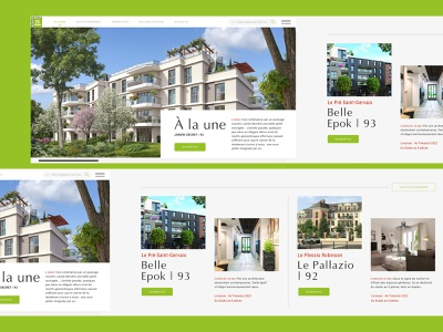 REAL ESTATE HORIZONTAL SCROLL - 1/5 ecommerce webdesign website green architecture horizontal scroll realestate