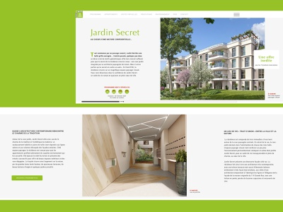 Realestate website horizontal scroll - 3/5 webdesign green architecture horizontal scroll ecommerce website realestate