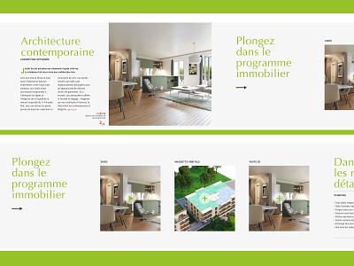REALESTATE WEBSITE HORIZONTAL SCROLL - 4/5 webdesign architecture green horizontal scroll ecommerce website realestate