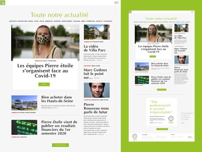 NEWS FEED DESIGN realestate green website webdesign newsfeed