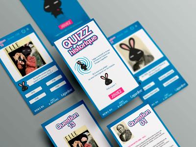 App design Quizz Lagardère  design ui app