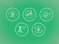 Icon Set Here Are A Few Icons For An Architecture Engineering Company I Designed Landscape Drafting Stormwater Management