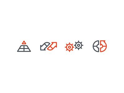 Organizational Change Icon Set