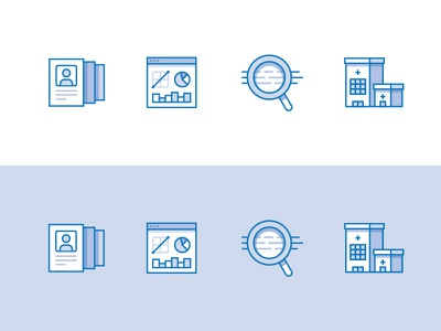 Brand Icons 02 ui web data hospital building illustration icon brand scalable reviewable customizable experience