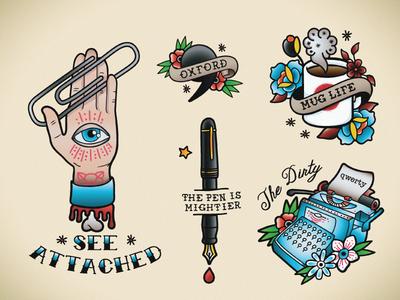Temporary Tattoo Set 03