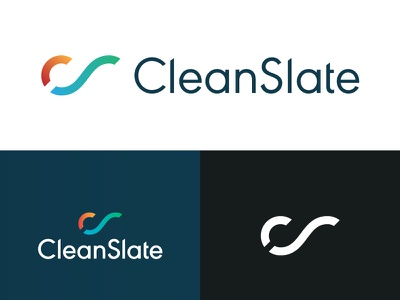 CleanSlate Identity Elements logomark gradient logo brand tech technology corporate clean geometric business card