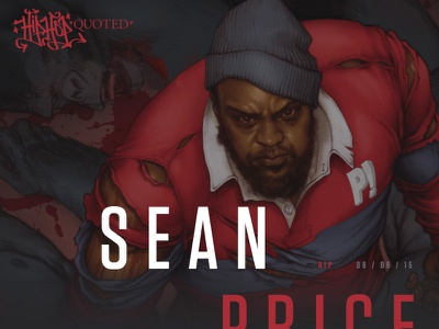 Sean Price - Barbarian - New Hip-Hop Quoted Design grid layout web design typography hip-hop art direction