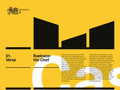 Swiss style Wu-Tang layout tweaks music typography graphic design layout