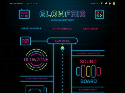 Glowfair Street Schedule responsive animation web-design