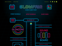 Glowfair Street Schedule
