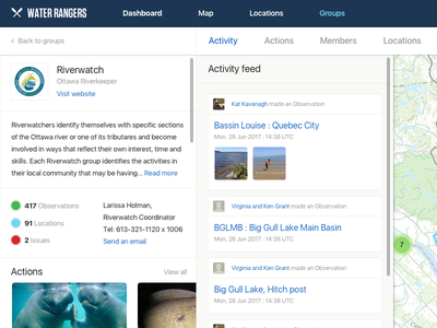 WIP - Water Rangers - Groups Dashboard variation dashboard web design ui