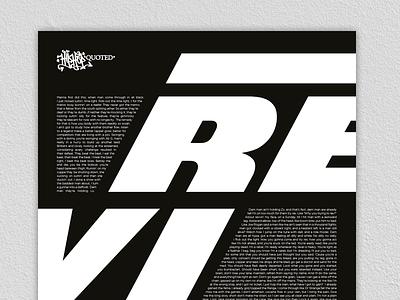 Hip-Hop Quoted - Ocean Wisdom - Revvin' print graphic-design typography