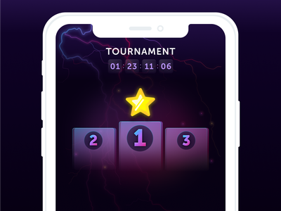 Graphic of a Winner's Podium in Word Blitz lotum star tournament play game minimal vector illustration app ui interface design artwork sketch graphicdesignui