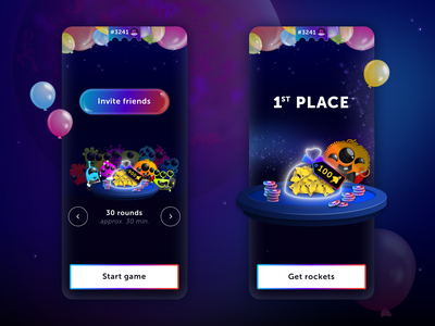 Screen Design for Party Mode of Quiz Planet lotum party planet space alien appdesign play game inspire app ui interface design uidesign sketch graphicdesignui userinterface