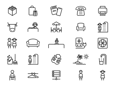 Icon Set for Our New Office lotum outline office iconset designinspiration minimal inspire vector icon design