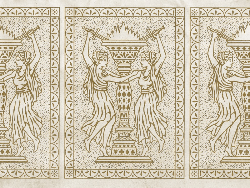 Playing Card Back goblet playingcards drawing stamp texture graphic design vintage woodcut illustration travis pietsch design