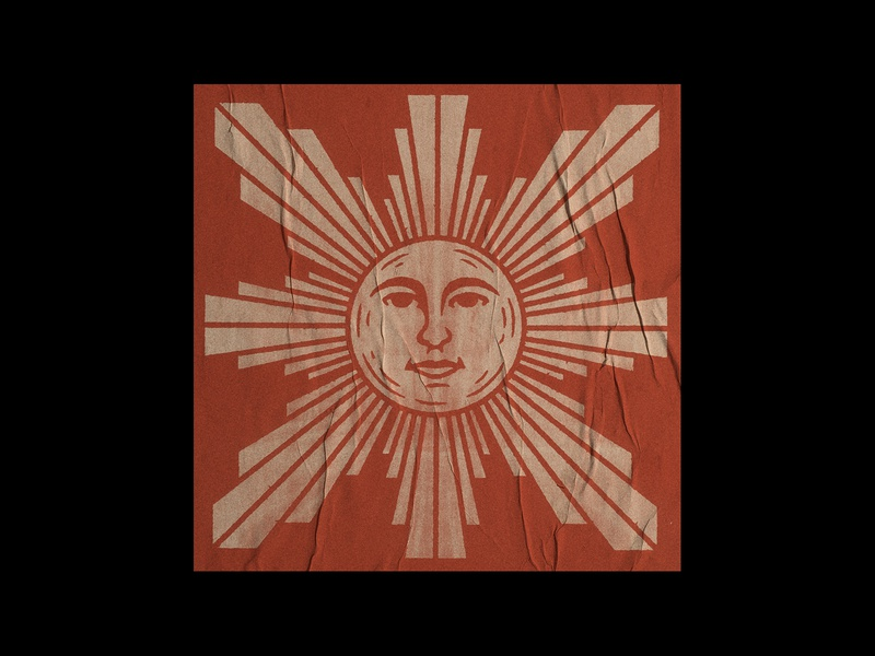 Dom sticker bandanna retro sun drawing stamp texture graphic design vintage woodcut illustration design travis pietsch