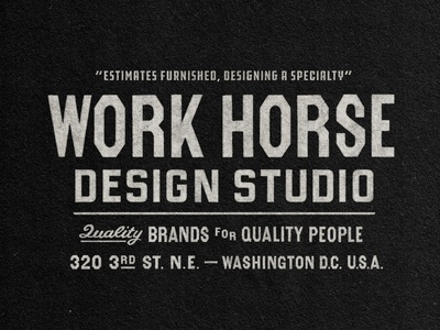 WorkHorse Designs (3/3) work horse badge design custom type type design typography branding retro logo badge graphic design vintage travis pietsch illustration design