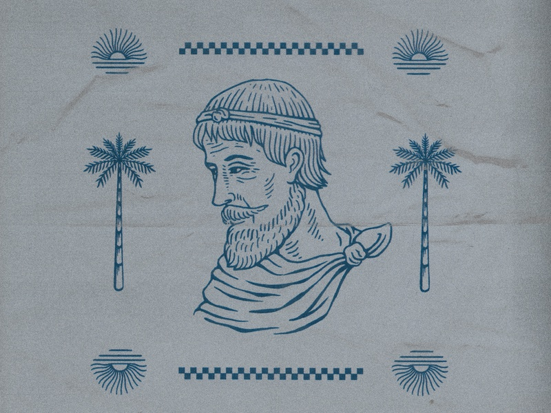 Doodle #004 portrait florida drawing texture graphic design vintage woodcut illustration travis pietsch design