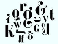 Evoque ; Typeface in process