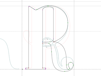 Sculpting an R in Fontlab type type design typeface didone typography fontlab