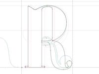 Sculpting an R in Fontlab