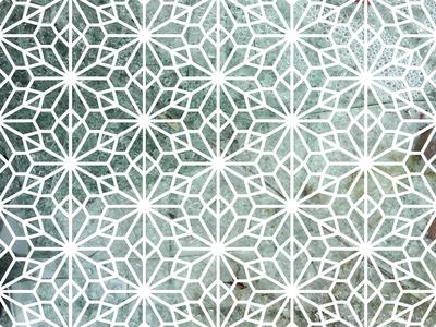Kumiko Inspired Art hexagon triangles vector pattern japanese kumiko geometry panel window shade