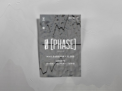 Ø[Phase] Poster djs condensed type grunge texture promotion music events poster techno
