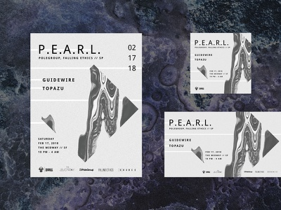 Concert Poster: P.E.A.R.L. text design banner flyer poster identity process image making texture typography