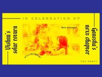 Celebration ~ Tea Party ~ Flyer