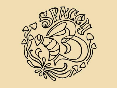 Spacey B Logo Sketch sketch honey bee logotype branding illustration identity process logo