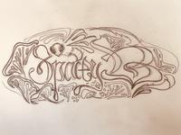 Spacey B Banner Art Sketch