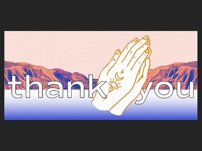 Personal Thank You Card illustrations design hands prayer illustration collage card thank you