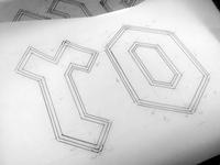 Pen and Vellum  logotype Inking