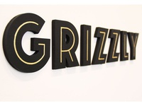 Lasercut Logotype for Grizzly Brewing Co.