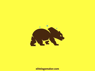 Brown Bear Logo logo maker logotipo logo for sale logo design mascot wild bear animal park farming bear