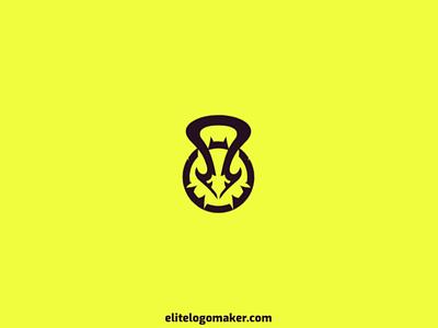 Kettlebell + Bird Logo logo maker logotipo logo for sale logo design veterinary simple birdie bird entertainment kettlebell
