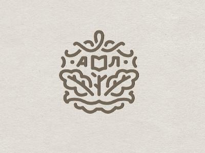 Akhmetova's Monogramm akhmetova emblem logo monogramm