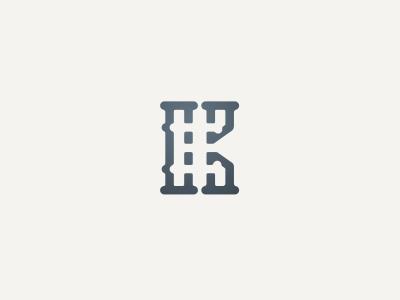 EK Monogram logotype logo business monogramm monogram