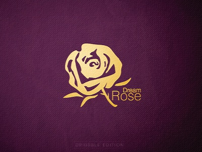 'Dream Rose' Logo logo dream rose cosmetic jewellery logotype logo design purple gold branding brand design kormilitsyn