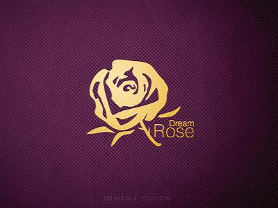 'Dream Rose' Logo logo dream rose cosmetic jewellery logotype logo design purple gold branding brand design kormilitsyn