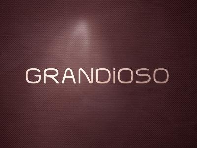 Grandioso grandioso type logotype