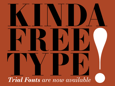 Free Trial Fonts by JTD Type | Dribbble | Dribbble
