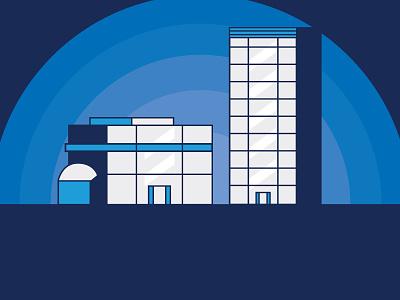 Commercial buildings illustration vector art vector illustration illustrator glass vector blue skyscraper building