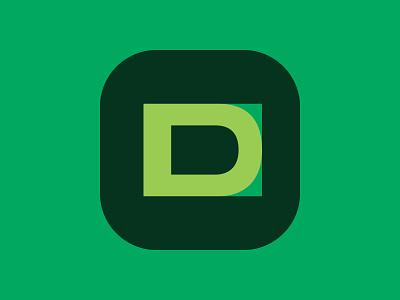 D app green vector design