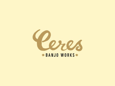 Ceres Banjo Works Logo Outtake handdrawn gold logo texture mastertone gibson banjo