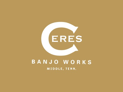 Ceres Banjo Works Outtake outtake basecamp tennessee gold logo banjo baseball