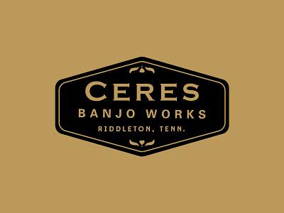 Ceres Banjo Works FINAL 1930s vintage final heart inlay badge logo banjo