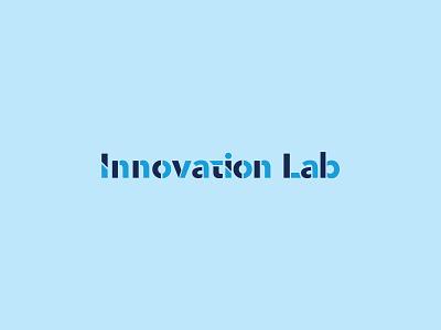 Innovation Lab vector design alphabet letters typogaphy innovation lab logo blue logotype