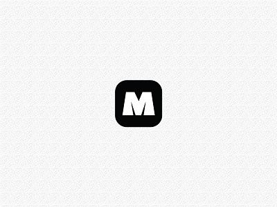 M thing icon typogaphy font typo app icon m
